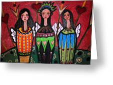 Tres Angelicas Greeting Card