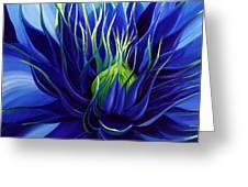 Tres Azul Greeting Card