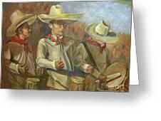 Tres Tambores Greeting Card
