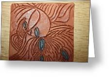 Tresses 3 - Tile Greeting Card
