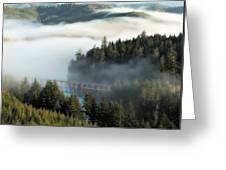 Trestle In Fog Greeting Card