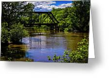 Trestle Over River Greeting Card