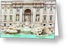 Trevi Fountain, Fontana Di Trevi, After The Restoration Of 2015  Greeting Card