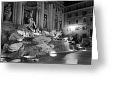 Trevi Fountain Night 2 Greeting Card