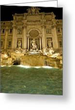 Trevi Fountain. Rome Greeting Card