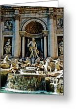 Trevi Fountain Vertical  Greeting Card