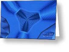 Tri Blues Greeting Card