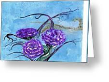Tri  Flower Bleau Greeting Card