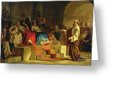 Trial Of The Apostle Paul Greeting Card