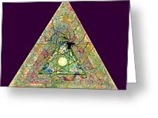 Triangle Triptych 3 Greeting Card