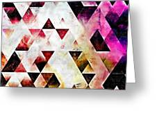 Triangles Autumn Greeting Card