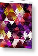 Triangles Impressionism Greeting Card