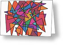 Triangles In Motion Greeting Card
