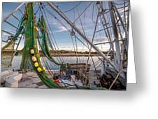 Triangles In The Harbor Greeting Card