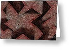 Triangulated Circles Greeting Card