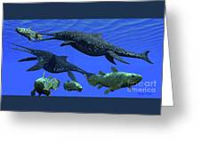 Triassic Shonisaurus Marine Reptile Greeting Card