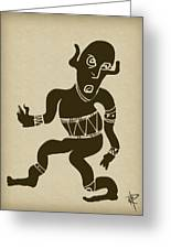 Tribal Dancer Greeting Card