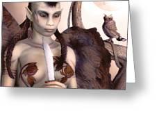 Tribal Elf Greeting Card
