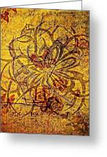 Tribal Flower Greeting Card