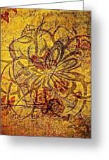 Tribal Flower Greeting Card by Paulo Zerbato