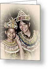 Tribal Girls Greeting Card