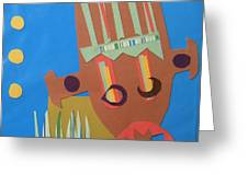 Tribal Mask Greeting Card