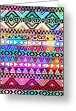 Tribal Pattern 08 Greeting Card