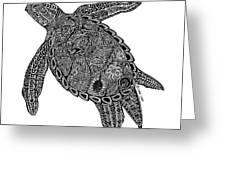Tribal Turtle I Greeting Card by Carol Lynne