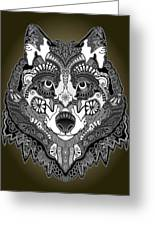 Tribal Wolf Greeting Card