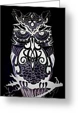 Tribeowl Reverse Greeting Card