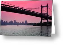 Triborough Bridge From Astoria Park Greeting Card