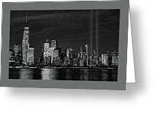 Tribute In Light  # 7 - B  And  W Greeting Card