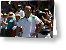 Tribute To Agassi Greeting Card