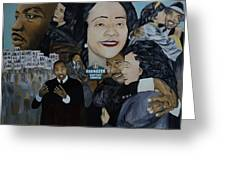 Tribute To Dr Martin Luther King Jr Greeting Card