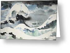 Tribute To Hokusai Greeting Card