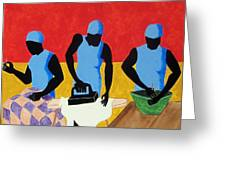 Tribute To Jacob Lawrence Greeting Card by Otis L Stanley