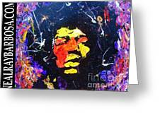 Tribute To Jimi Hendrix Greeting Card