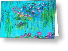 Tribute To Monet Greeting Card