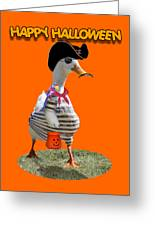 Trick Or Treat For Cap'n Duck Greeting Card