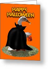 Trick Or Treat For Count Duckula Greeting Card