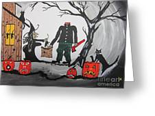 Trick Or Treat. Greeting Card