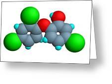 Triclosan Molecule Greeting Card