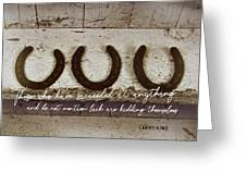 Trifecta Quote Greeting Card
