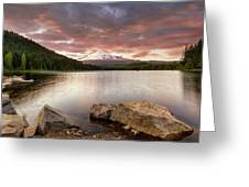 Trillium Lake Sunset Greeting Card