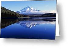 Trillium Lake With Reflection Of Mount Greeting Card