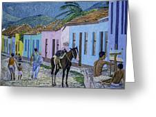 Trinidad Lifestyle 28x22in Oil On Canvas  Greeting Card