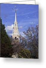 Trinity Church In Spring Greeting Card