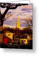 Trinity Church Spring Sunset Greeting Card