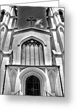 Trinity Episcopal Cathedral Black And White Greeting Card
