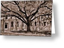 Trinity Episcopal Cathedral Court Yard Greeting Card